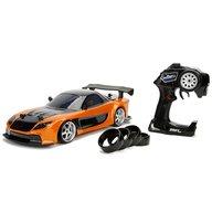 Jada Toys - Masina Fast and Furious Mazda RX-7 Drift cu anvelope si telecomanda