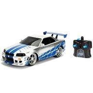 Jada Toys - Masinuta Fast and Furious Nissan Skyline GTR Cu telecomanda,  Scara 1:24