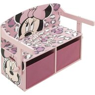 Arditex - Mobilier depozitare jucarii 2 in 1 Minnie Mouse, 70x60 cm