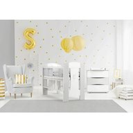 Klups - Mobilier camera copii si bebelusi Nati, Alb/Gri