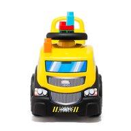 Molto - Vehicul fara pedale Camion Cu 10 cuburi incluse, Galben