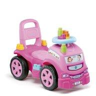 Molto - Vehicul fara pedale Camion Cu 10 cuburi incluse, Roz