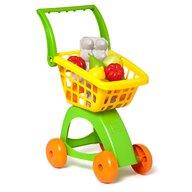 Molto - Set de joaca Carucior de cumparaturi Cu alimente si fructe de plastic incluse