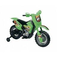Globo - Motocicleta electrica pentru copii Enduro Motocross 6V, cu telecomanda control parinte, Verde