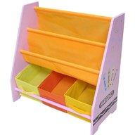 Style - Organizator carti si jucarii cu cadru din lemn Pink Crayon
