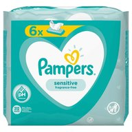 Pampers - Servetele umede Sensitive 6x52 buc.