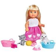 Simba - Papusa Evi Love Dog & Cat Cu catel  pisica si accesorii