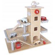 Ecotoys - Parcare din lemn cu etaje si lift