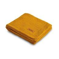 Sensillo - Paturica Tricotata din Bumbac, 100x80 cm, Galben