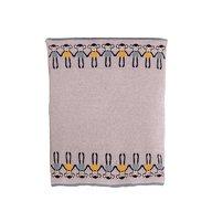 Bizzi Growin - Paturica tricotata din bumbac, Gri cu maimute colorate