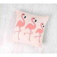 Bizzi Growin - Perna decor bumbac Flamingo, Roz