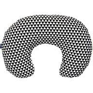 Womar - Perna pentru gravide si alaptat Comfort Exclusive 160 cm cu poliester, Alb, Negru