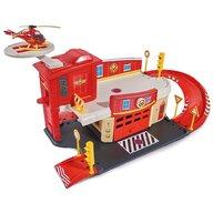 Pista de masini Rescue Center Cu elicopter si accesorii Pompierul Sam