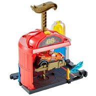 Hot Wheels - Pista de masini Fire Station Spinout Cu masinuta by Mattel City Downtown