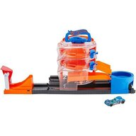 Hot Wheels - Pista de masini City Spin Dealership Cu masinuta by Mattel