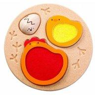 Plan Toys - Puzzle educativ cu ou si gaina