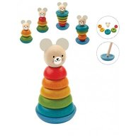 Plan Toys - Turn de stivuit cu iepuras