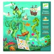 Djeco - Planse cu abtibilduri repozitionabile Aventuri pe mare