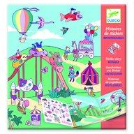 Djeco - Planse cu abtibilduri repozitionabile Locul de joaca pentru copii