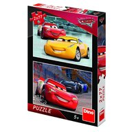 Dino - Toys - Puzzle 2 in 1 Cars 3 cursa cea mare 77 piese