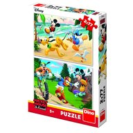 Dino - Toys - Puzzle 2 in 1 Mickey campionul 77 piese