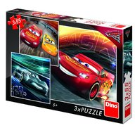 Dino - Toys - Puzzle 3 in 1 Cars 3 cursa cea mare 55 piese