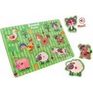 Globo Legnoland - Puzzle sonor Animale Puzzle Copii, pcs  8