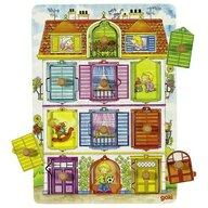 Goki - Puzzle educativ Ascunde si descopera ferestre Puzzle Copii, pcs  10