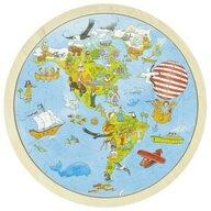 Goki - Puzzle din lemn Calatorie prin lume Puzzle Copii, pcs  57