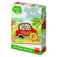 Dino - Toys - Puzzle de podea Safari, 24 piese