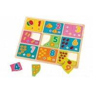 Globo Legnoland - Puzzle din lemn Numere Puzzle Copii