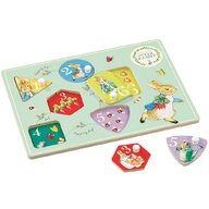 Rainbow Design - Puzzle din lemn Peter Rabbit Puzzle Copii, pcs  6