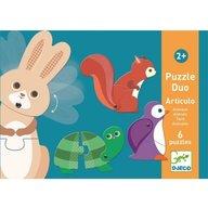 Djeco - Puzzle duo mobil animale