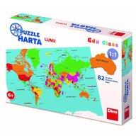 Dino - Toys - Puzzle geografic Harta Lumii, 82 piese