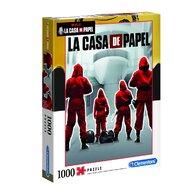 Clementoni - Puzzle personaje La casa de papel  Puzzle Adulti, pcs  1000, Multicolor