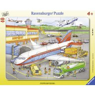 Ravensburger - Puzzle Mic aeroport, 40 piese