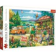 Trefl - Puzzle peisaje Dimineata la tara Puzzle Copii, pcs  500, Multicolor