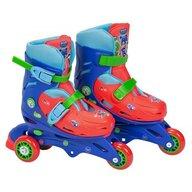 Saica - Role pentru copii cu 3 roti, Eroi in Pijamale Pj Mask, marime reglabila 28-31, roti interschimbabile frana de picior