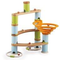 Fat Brain Toys - Rollercoaster din bambus cu bile