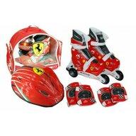 Saica - Set role cu accesorii protectie incluse  Ferrari marimi reglabile 31-34