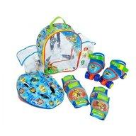 Saica - Set rotile Paw Patrol pentru copii cu accesorii protectie si casca marimi reglabile 24-29