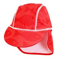 Swimpy - Sapca Fish red , protectie UV , 4-8 ani
