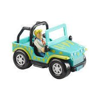 Scooby Doo - Masinuta Monster Safari Jeep si figurina Fred