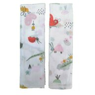Set 2 museline din bumbac 70x50cm Cute Insects SeviBebe