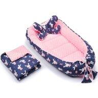 Infantilo - Suport de dormit 3 in 1 Iepurasi Minky, Roz/Violet