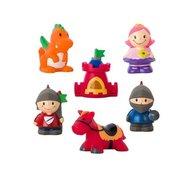 Saro Baby - Set 6 jucarii de baie cu personaje din povesti