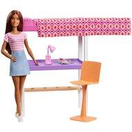 Barbie - Papusa  Set birou cu pat supraetajat Cu accesorii by Mattel Estate