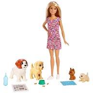 Barbie - Papusa  Set cu 4 catelusi Cu accesorii by Mattel Family