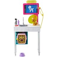 Barbie - Papusa  Set cabinet veterinar GJL68 Cu accesorii by Mattel I can be