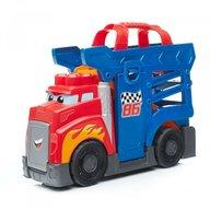 Mega Bloks - Set de constructie Camion cu masinuta si pista de lansare, 10 piese